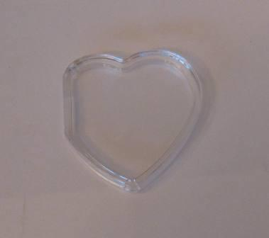 Beanie Baby Tag Cover (Clear Heart)